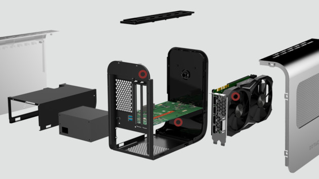 Zotac AMP Box (Mini): Zwei eGPU-Gehäuse mit TB3 und RGB-LED-Beleuchtung