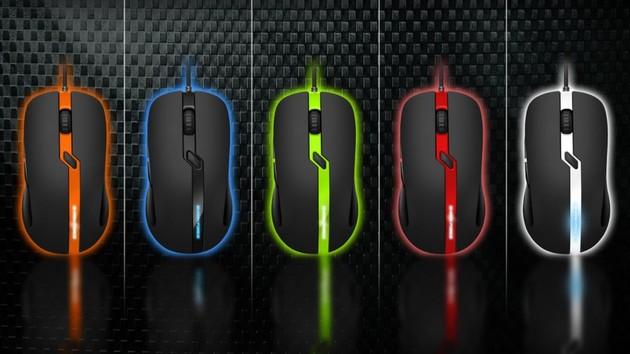 Sharkoon Shark Force Pro: Spielemaus mit Unterboden-LEDs für 20Euro