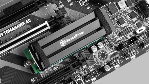 Silverstone TP02-M2: Kühler für M.2-SSDs ragt 10 Millimeter in die Höhe