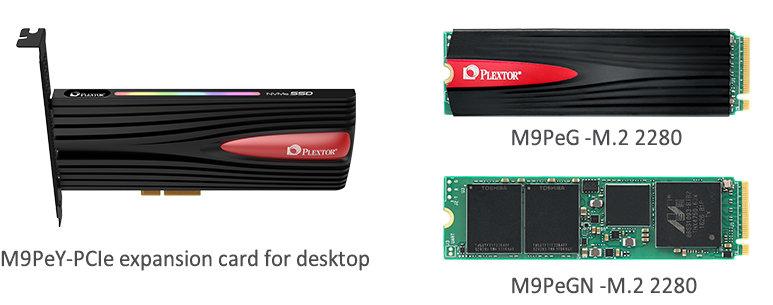 Plextor M9Pe in drei Varianten