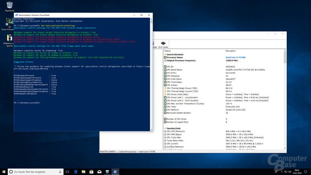 Das VMware-Tool lädt den Microcode zu spät, Windows lädt die Spectre-Gegenmaßnahmen deshalb nicht
