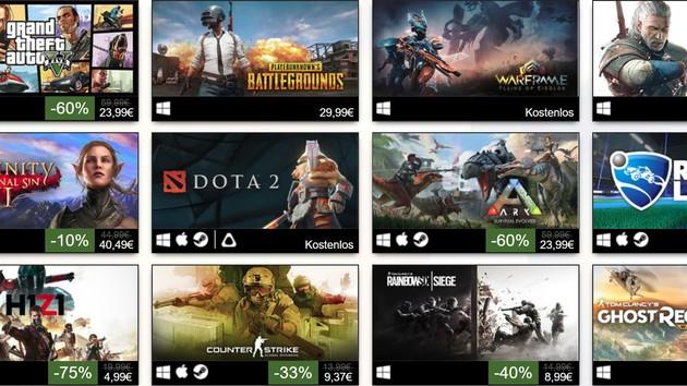 Steam: Erfolgreichsten Spiele brauchen Mehrspieler-Modus