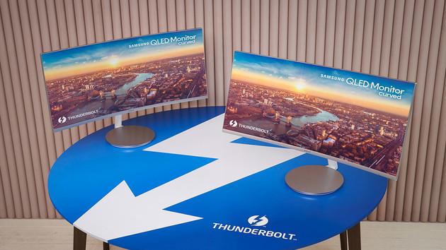 Samsung CJ791: Thunderbolt-3-Monitor mit 3.440 × 1.440 lädt mit 85 Watt