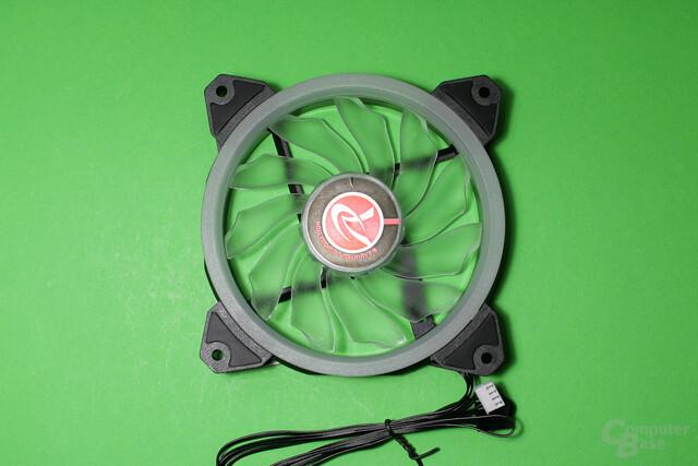 Raijintek Orcus 240: Zwei LED-beleuchtete 120-mm-Lüfter liegen bei