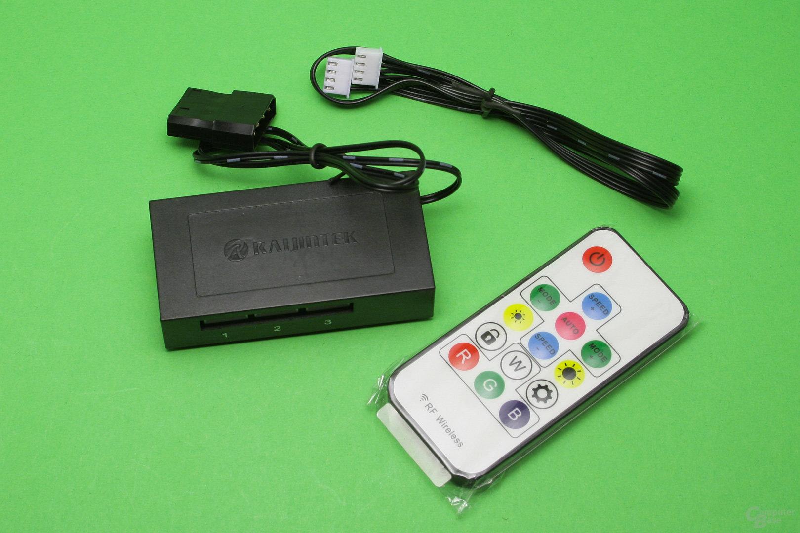 Raijintek Orcus 240: Equipment zur LED-Steuerung