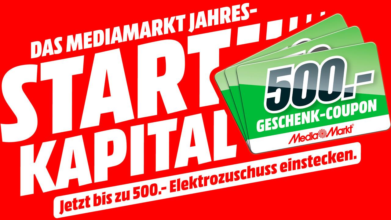 Media Markt: 40 bis 500 Euro als Coupon beim Einkauf ab 399 Euro