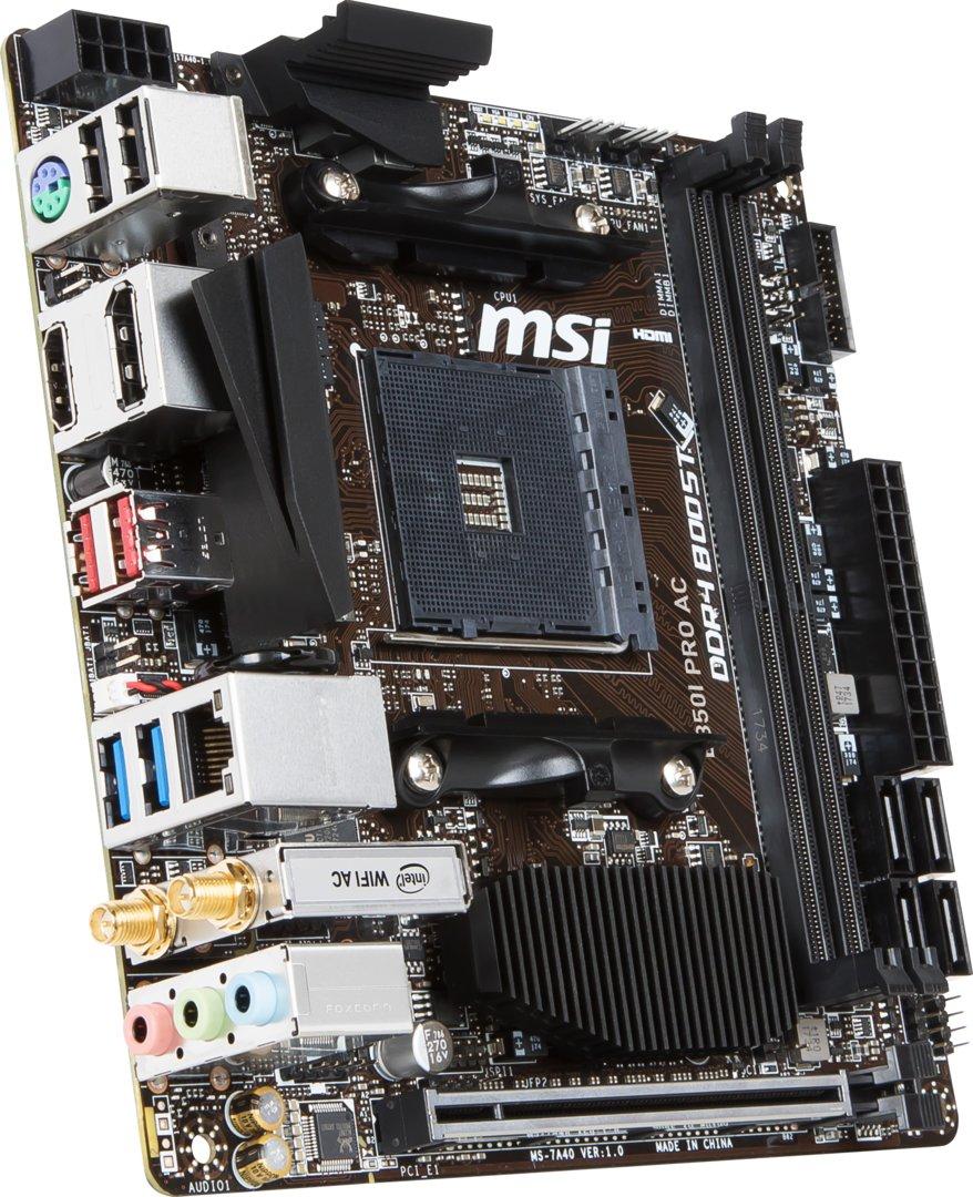 MSI B350I Pro AC mit AM4 auf Mini-ITX