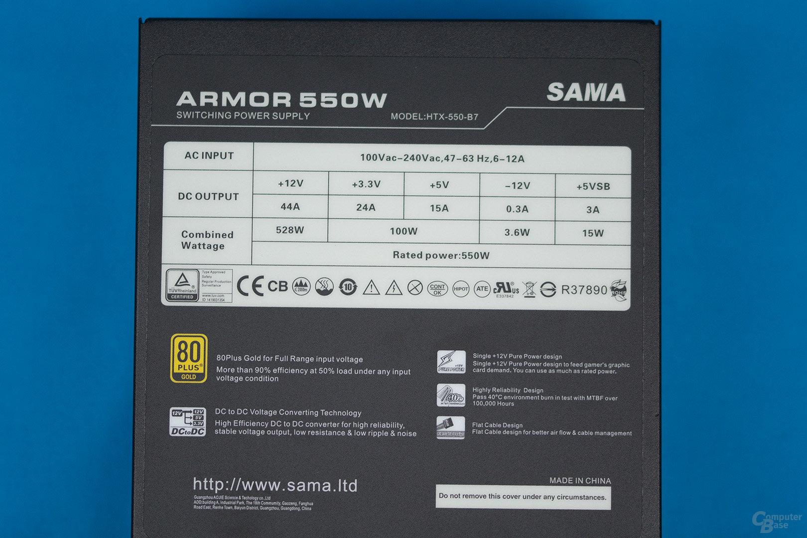 Inter-Tech Sama Armor 550W