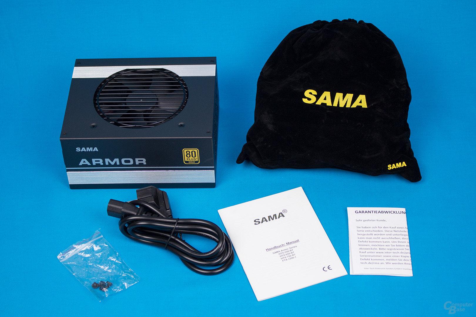 Inter-Tech Sama Armor 550W – Lieferumfang