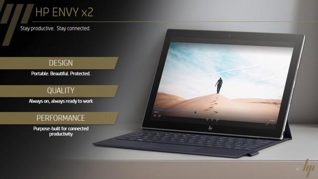 Envy x2: HP bietet 2-in-1 auch mit Intel-CPUs und Windows 10 an