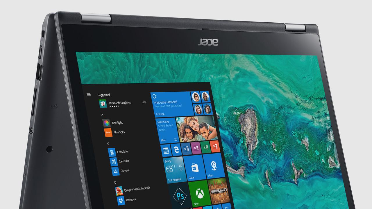 Acer Spin 3 (2018): 14-Zoll-Convertible mit Kaby Lake Refresh und vier Kernen
