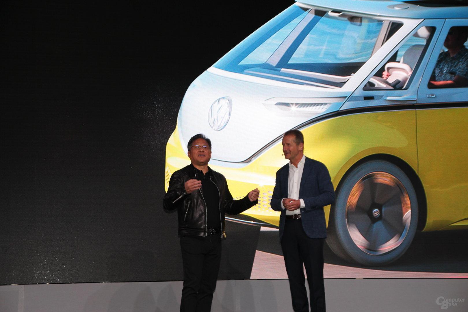Treffen der CEOs: Jensen Huang und Dr. Diess