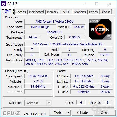 Der AMD Rzyen 5 2500U im Acer Swift 3