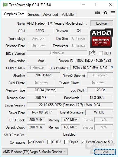 GPU-Z liest die GPU noch falsch aus