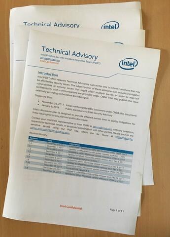 Intel-Empfehlungen zu Meltdown/Spectre