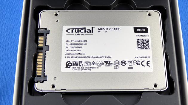 Crucial MX500: SSD nun auch mit 250, 500 und 2.000 GB erhältlich