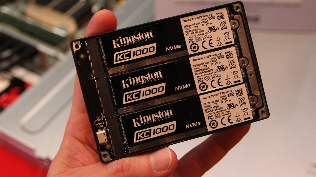 Kingston/HyperX: SSDs mit mSATA, PCIe x2 und als Verbund mit 7 Mio. IOPS