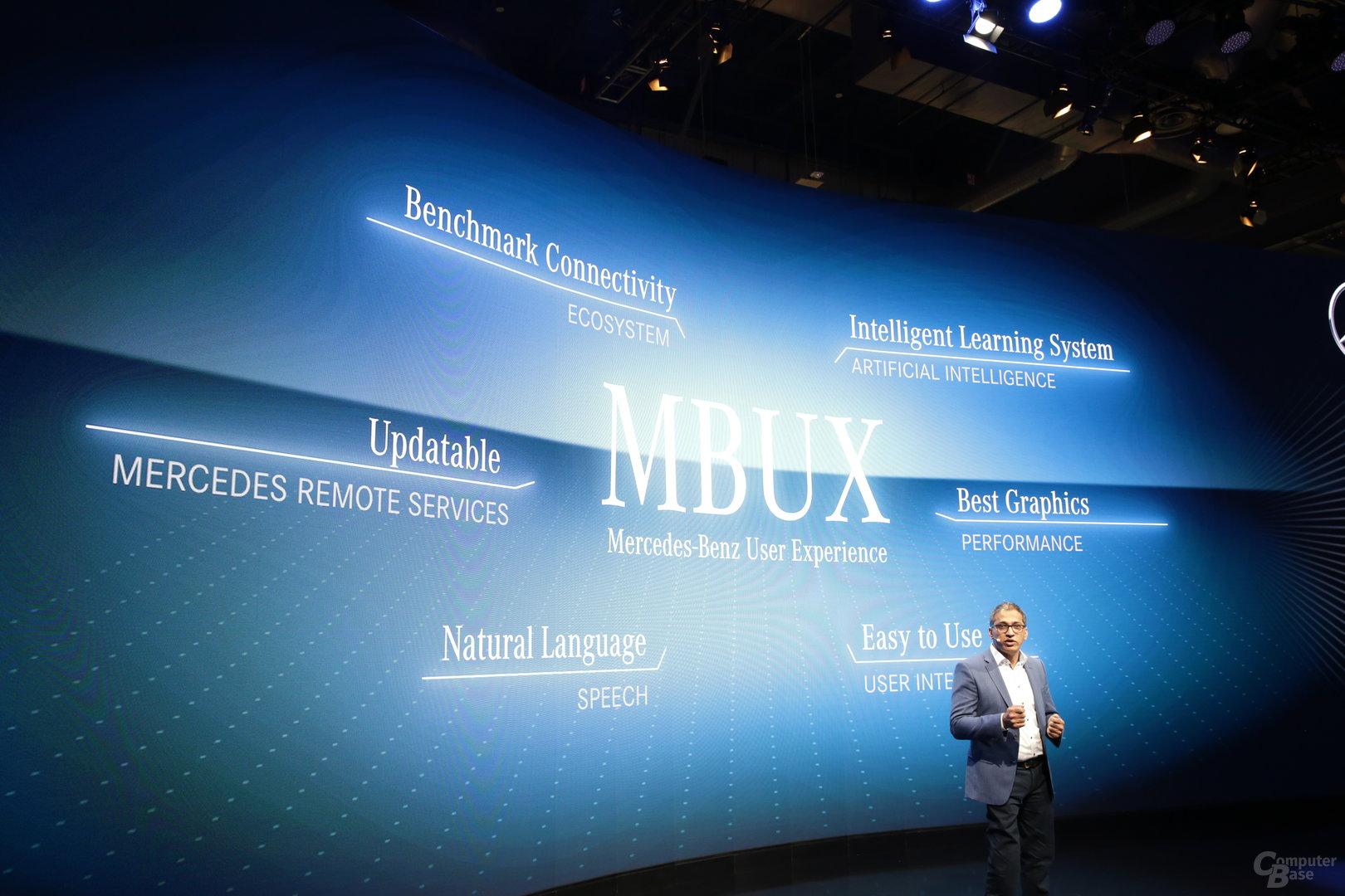 Mercedes-Benz präsentiert auf der CES die neue MBUX