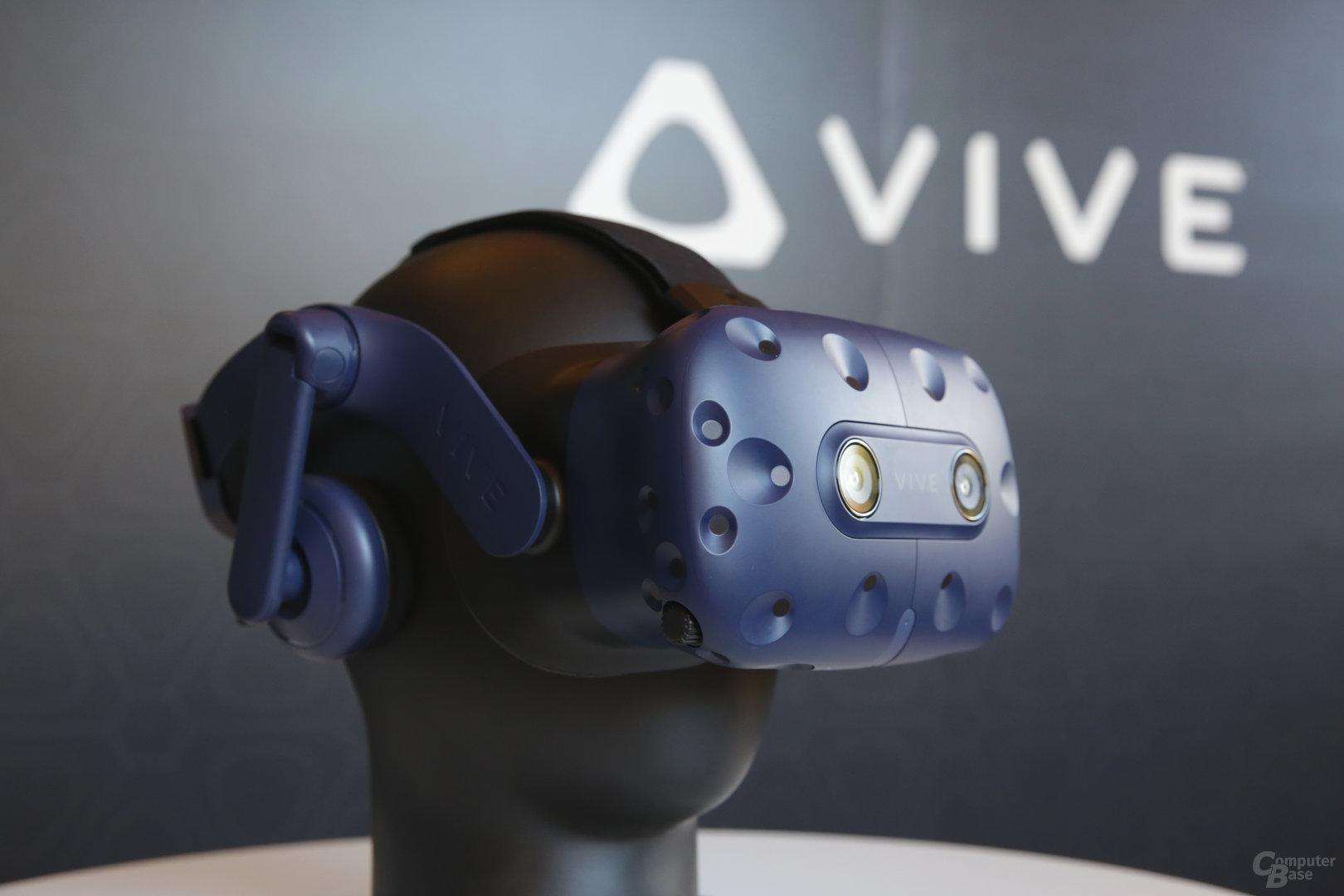 Die Vive Pro kommt mit einem überarbeiteten Design