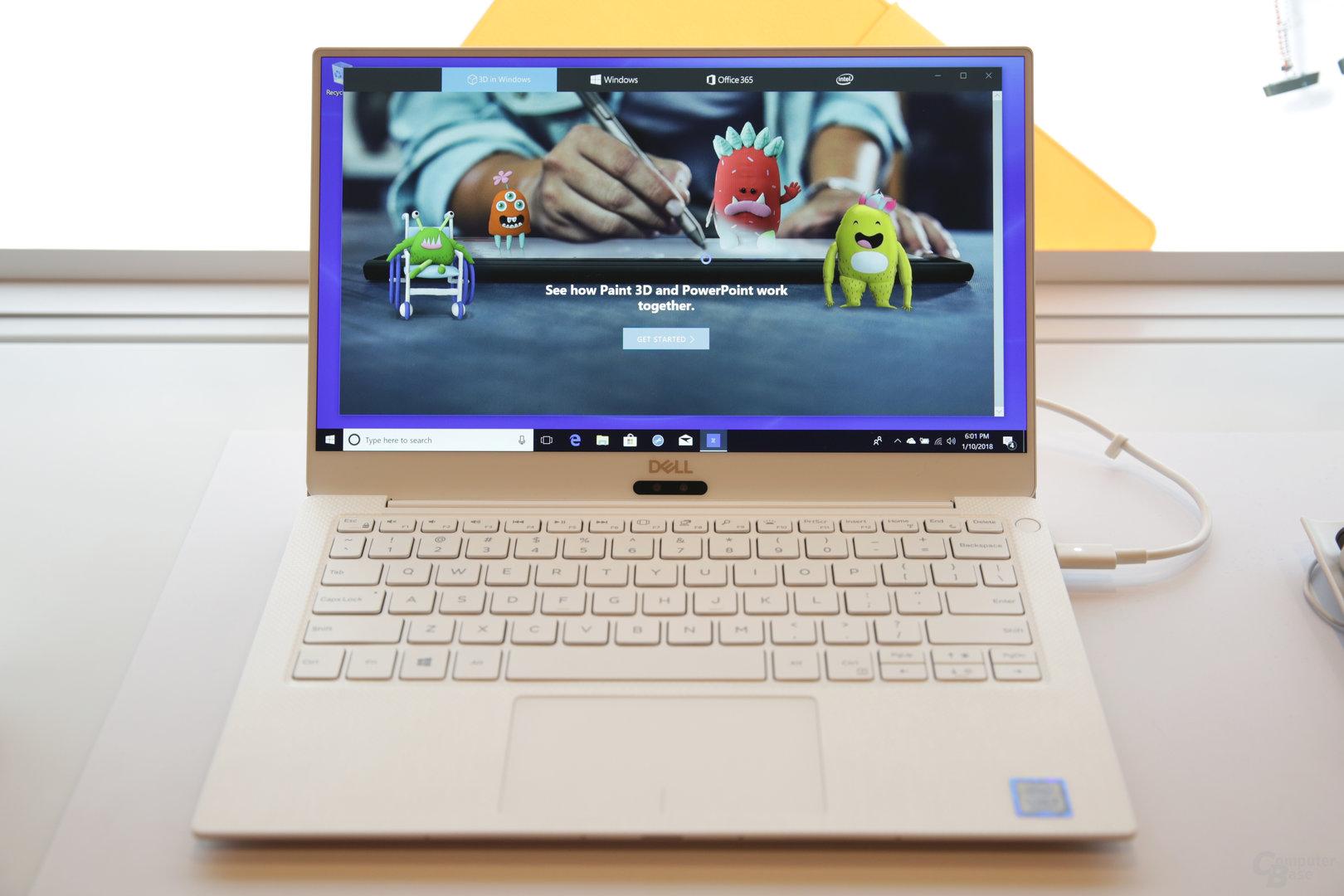 XPS 13 mit neuem 4K-Display und Innenseite in Alpinweiß