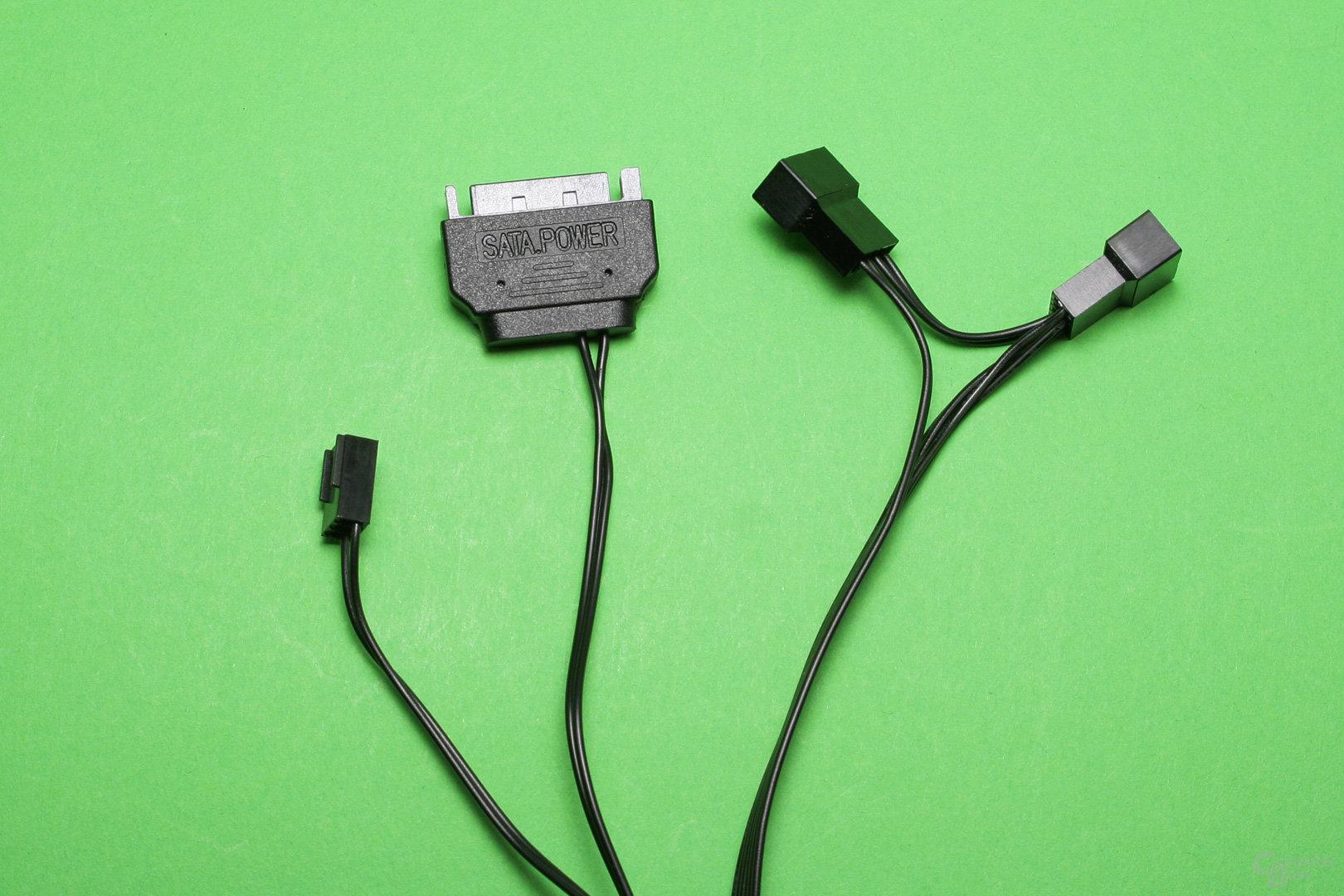 Corsair H115i Pro: Von der Pumpe abgehende Kabel