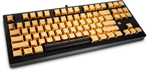 Tastatur mit Cherry MX Black und 24 Karat Gold