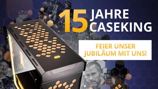 15 Jahre Caseking: Sonderedition und goldene Tastatur zum Jubiläum