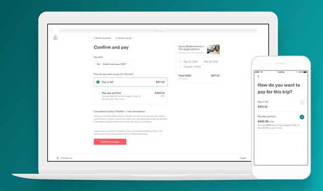 Pay Less Up Front im Web und unter iOS
