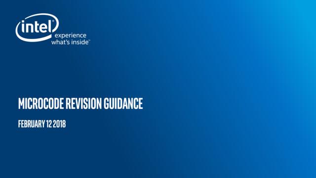 Intel Microcode Revision Guidance Seite 1