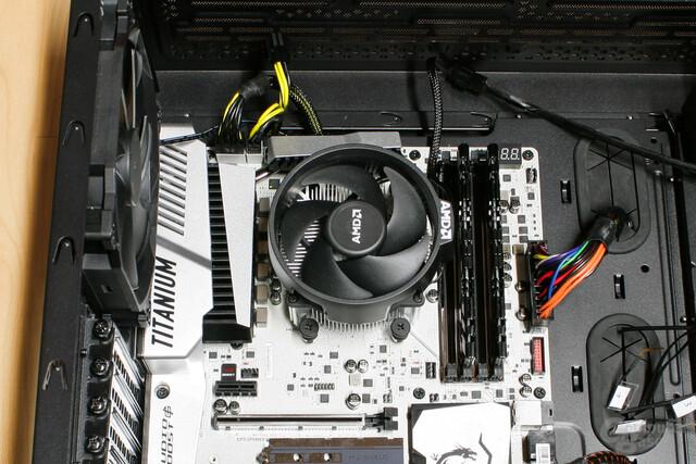 AMD Wraith Spire im Testsystem