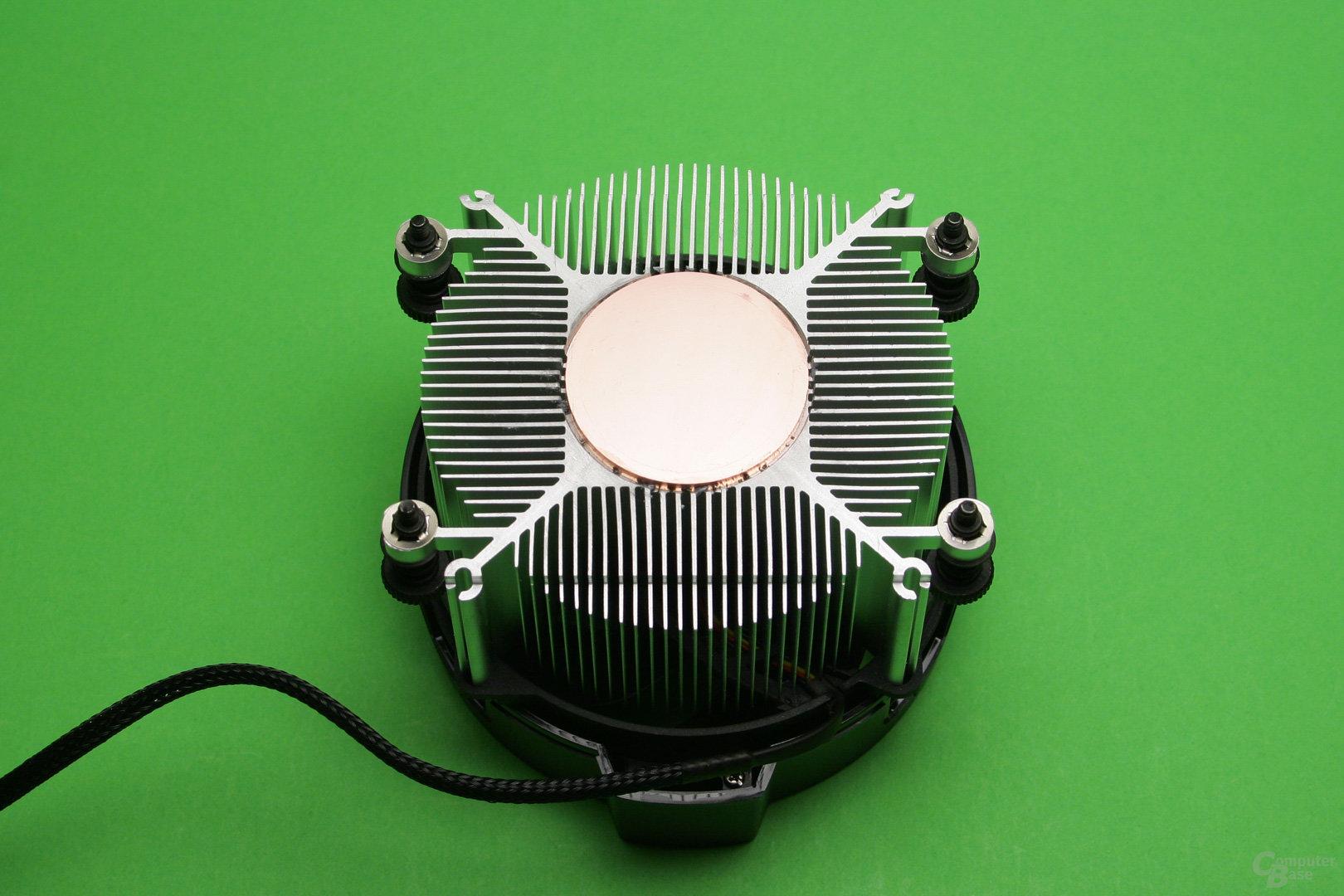 AMD Wraith Spire: CPU-Auflagefläche aus Kupfer mit Aluminium-Radiator
