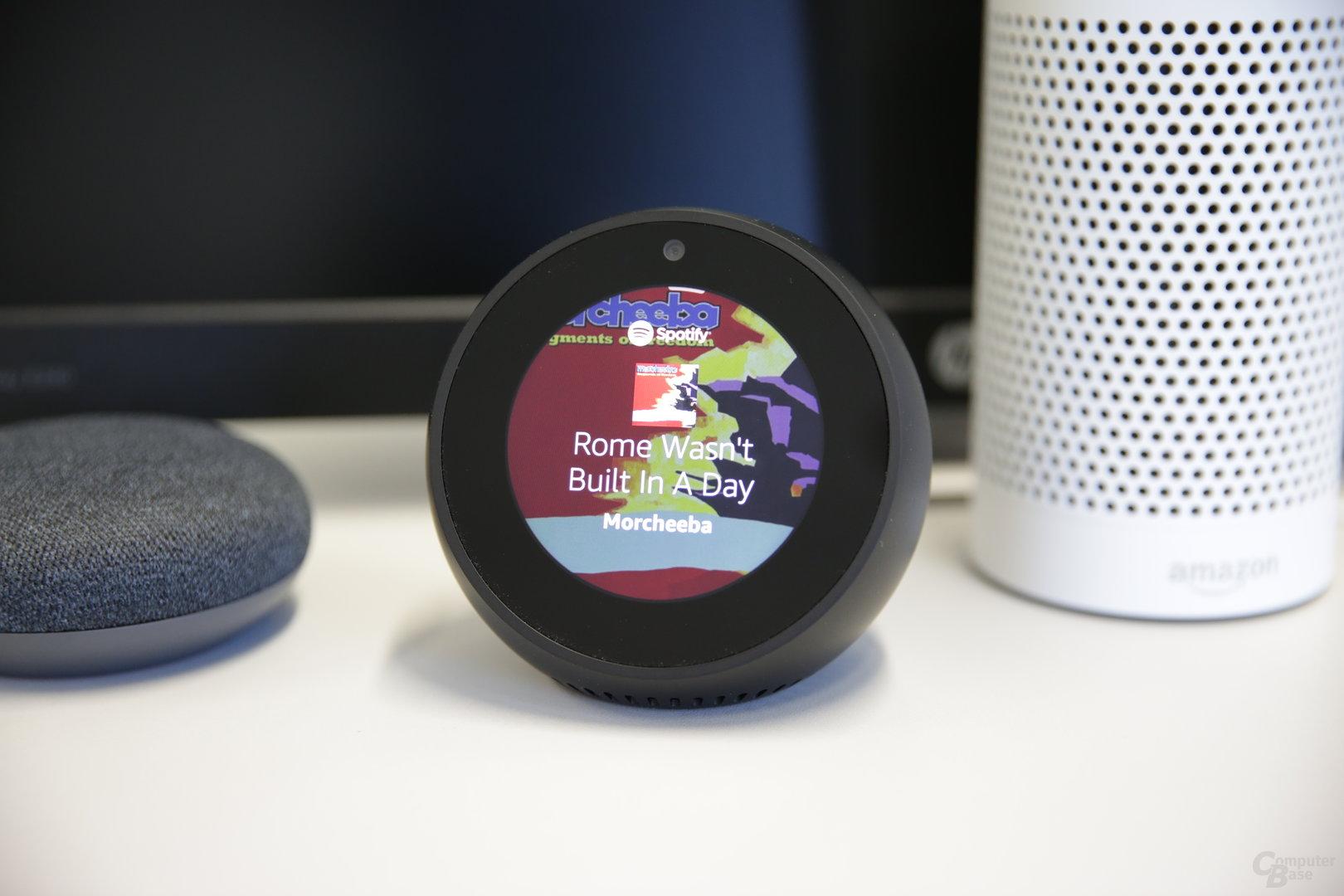 Amazon Echo Spot: Musikwiedergabe von Spotify
