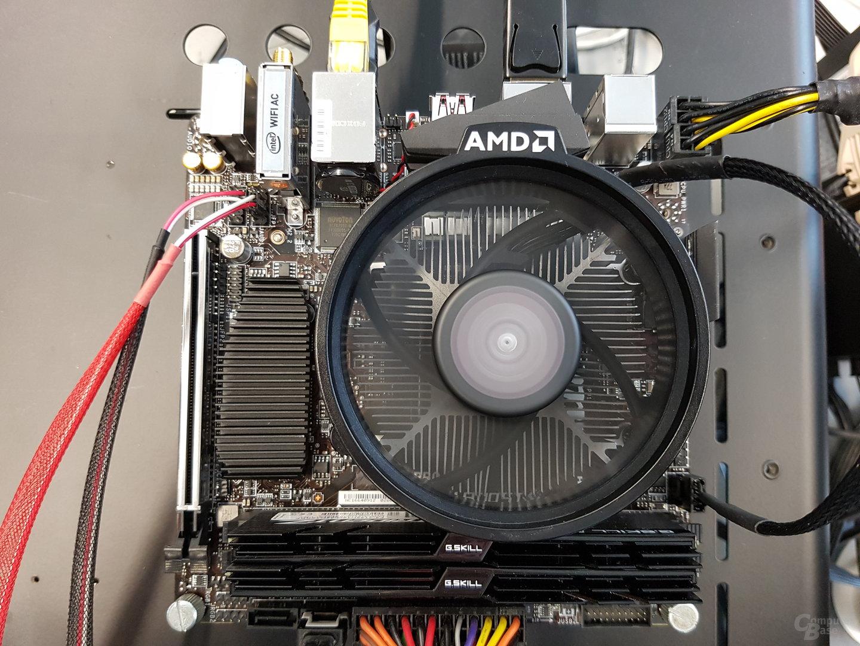 Mini-ITX-Board mit Ryzen 3 2200G