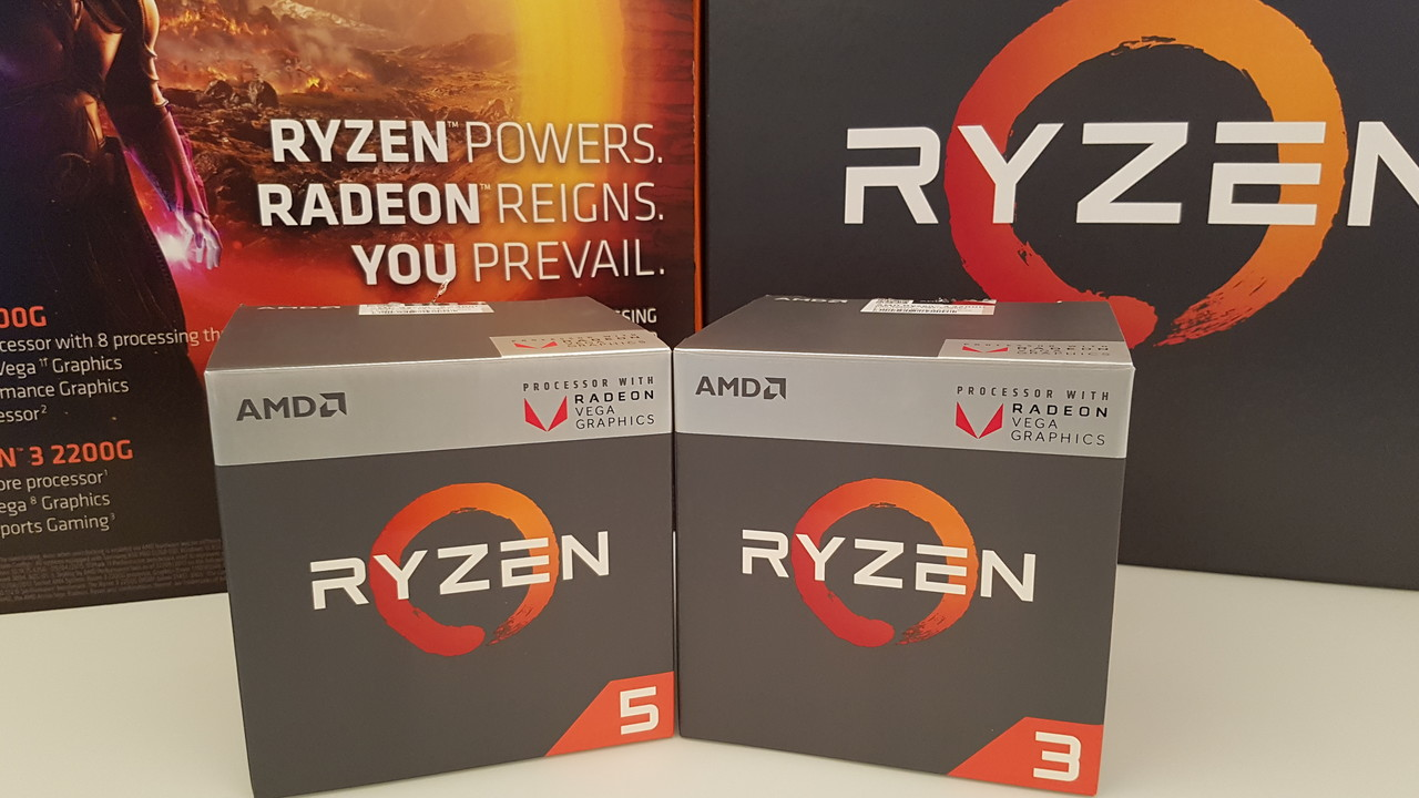 AMD Ryzen 3 2200G & 5 2400G im Test: Desktop-APUs mit starker GPU