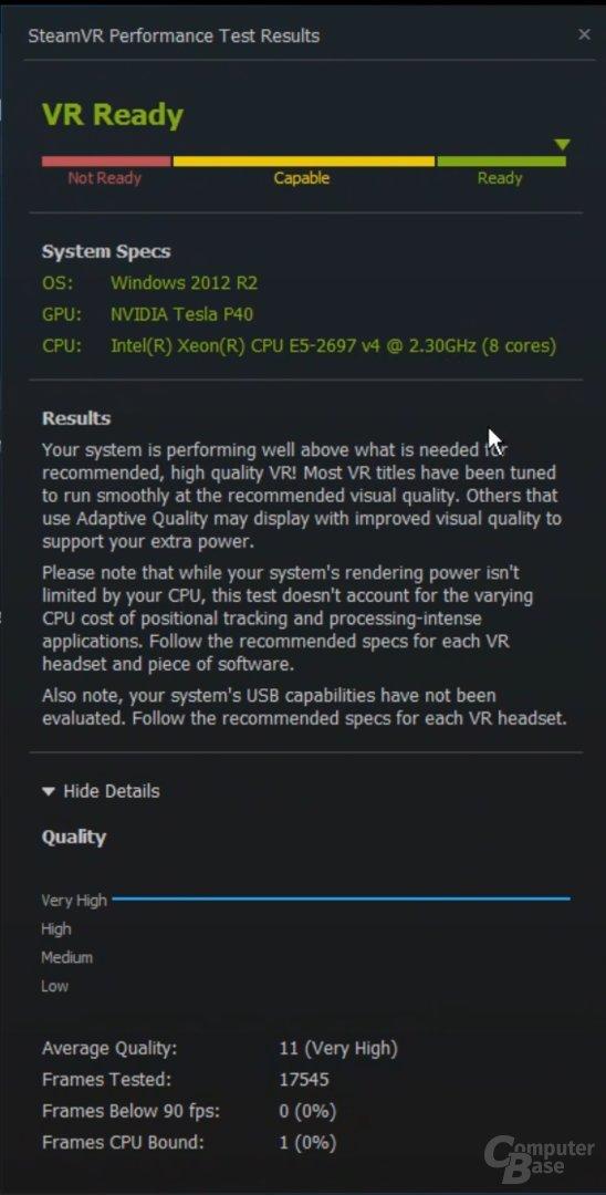 """Nicht """"VR Ready"""""""