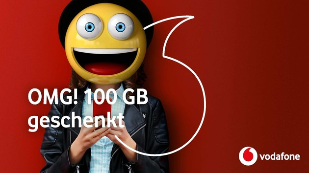 Vodafone: 100 Gigabyte freies Datenvolumen im Februar