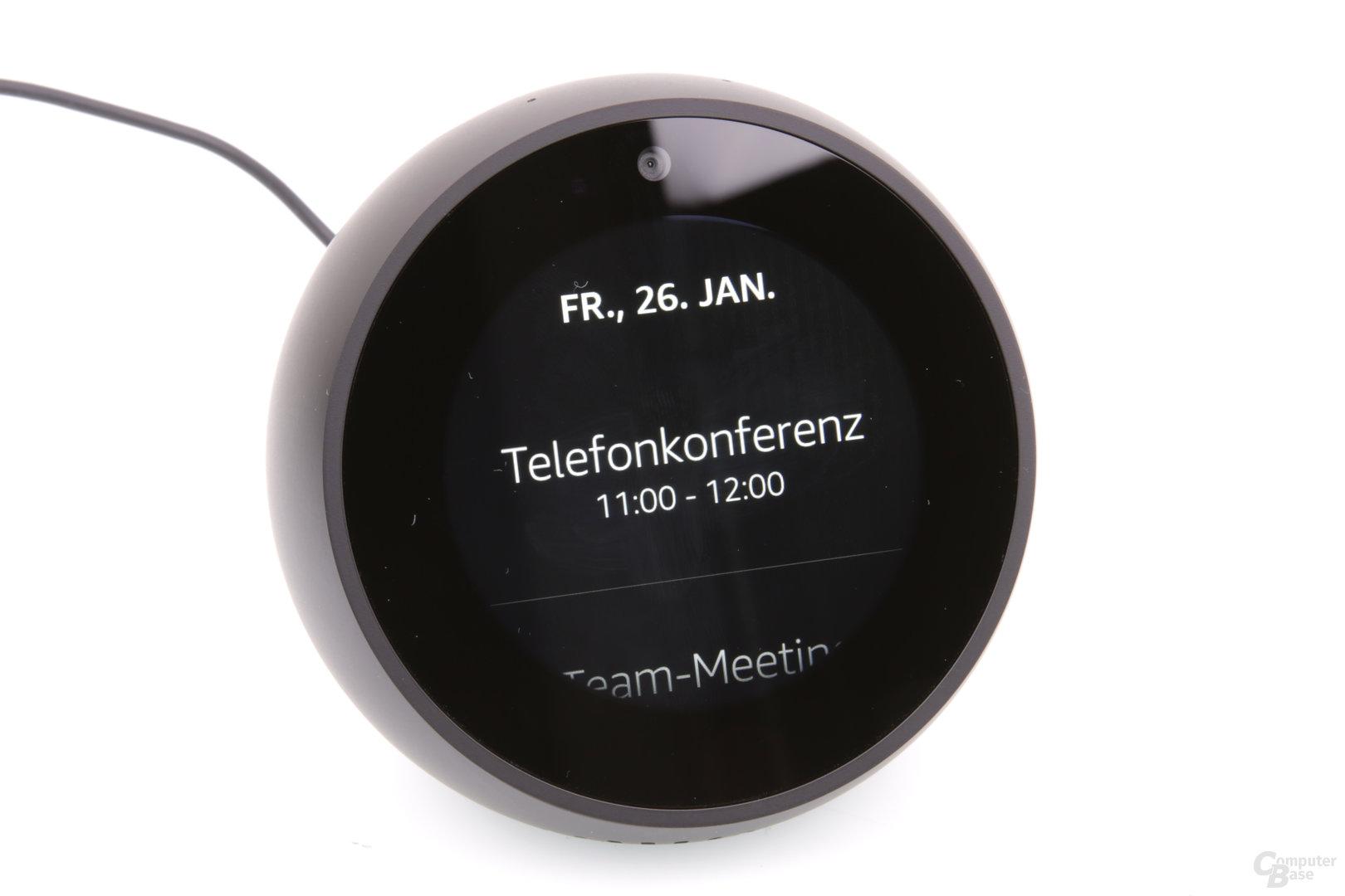Amazon Echo Spot: Kalender