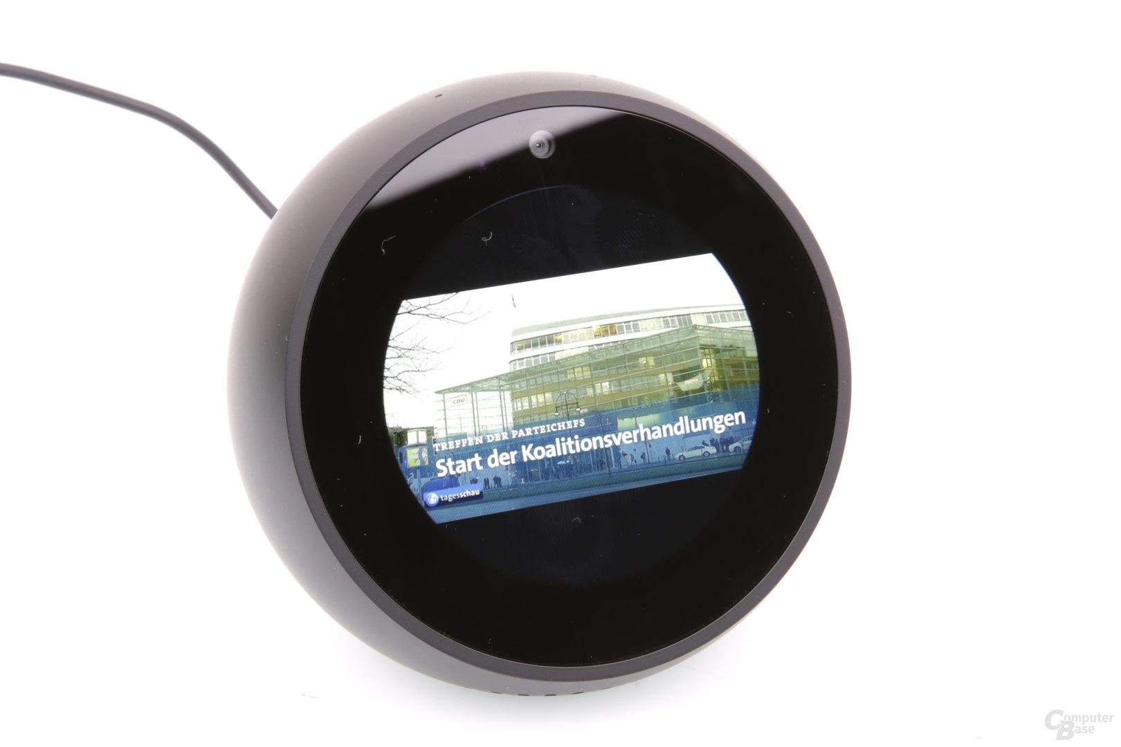 Amazon Echo Spot: Videowiedergabe mittlerer Zoom