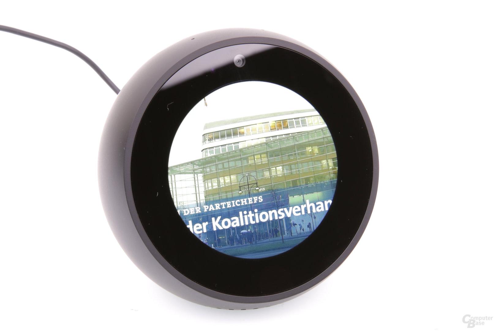 Amazon Echo Spot: Videowiedergabe max. Zoom