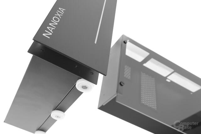 Nanoxia Project S Mini – Insgesamt sechs Rollen lassen den Korpus sanft ausfahren