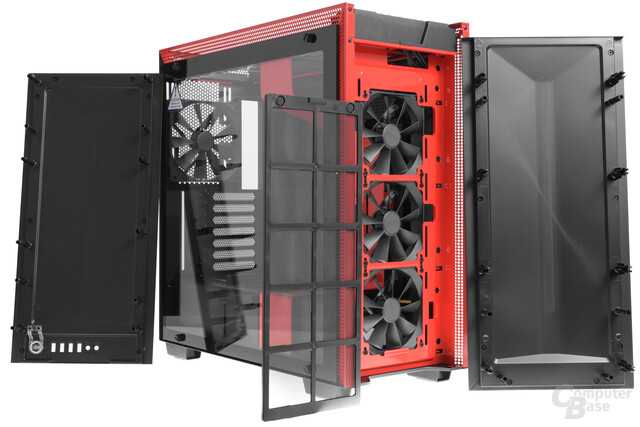 NZXT H700i – Front- und Topcover entfernt