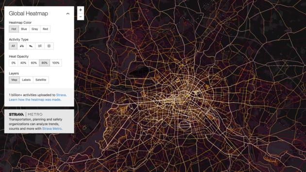Strava Heatmap: Fitness-Netzwerk enthüllt Militärstützpunkte weltweit