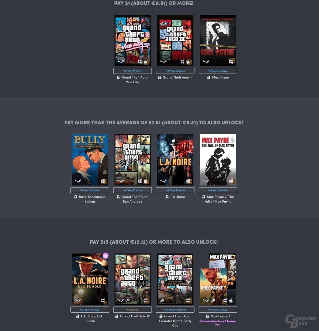 Alle Klassiker von Rockstar Games sind in einem Bundle günstig zu haben