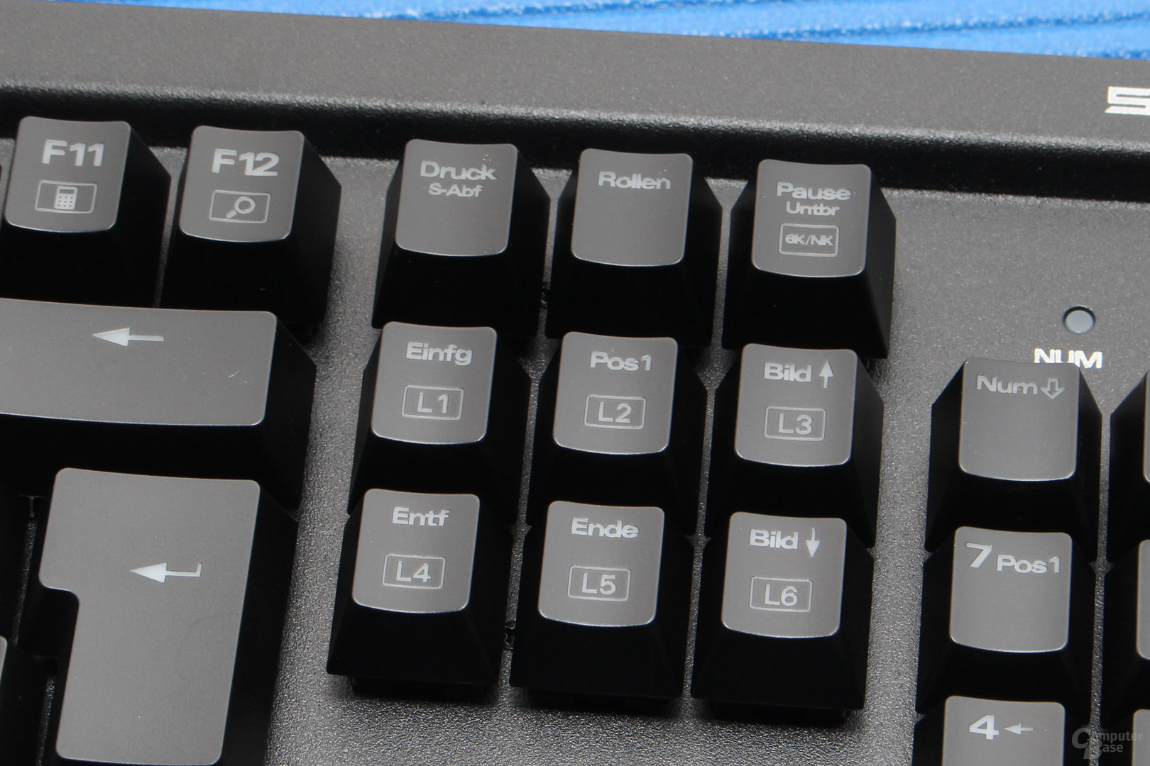 Umschalter für 6-Key-Rollover und Auswahl von Leuchteffekten