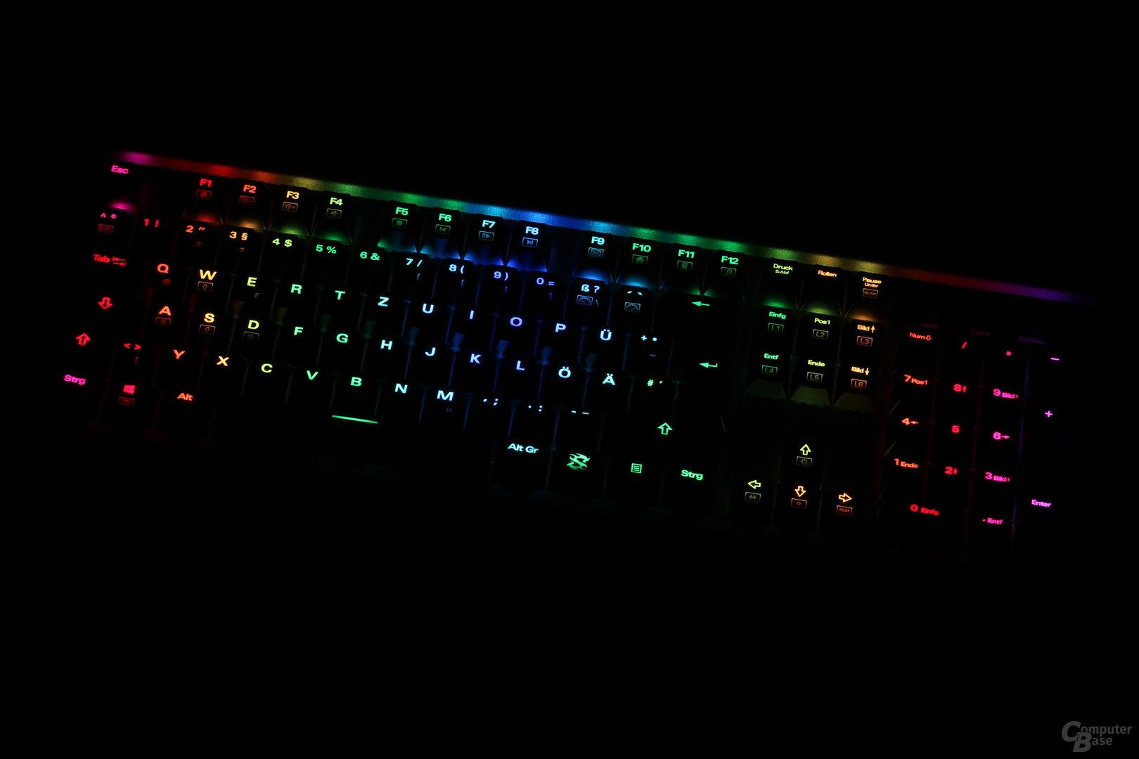 Betroffen sind alle Zusatzfunktionen der Tastatur