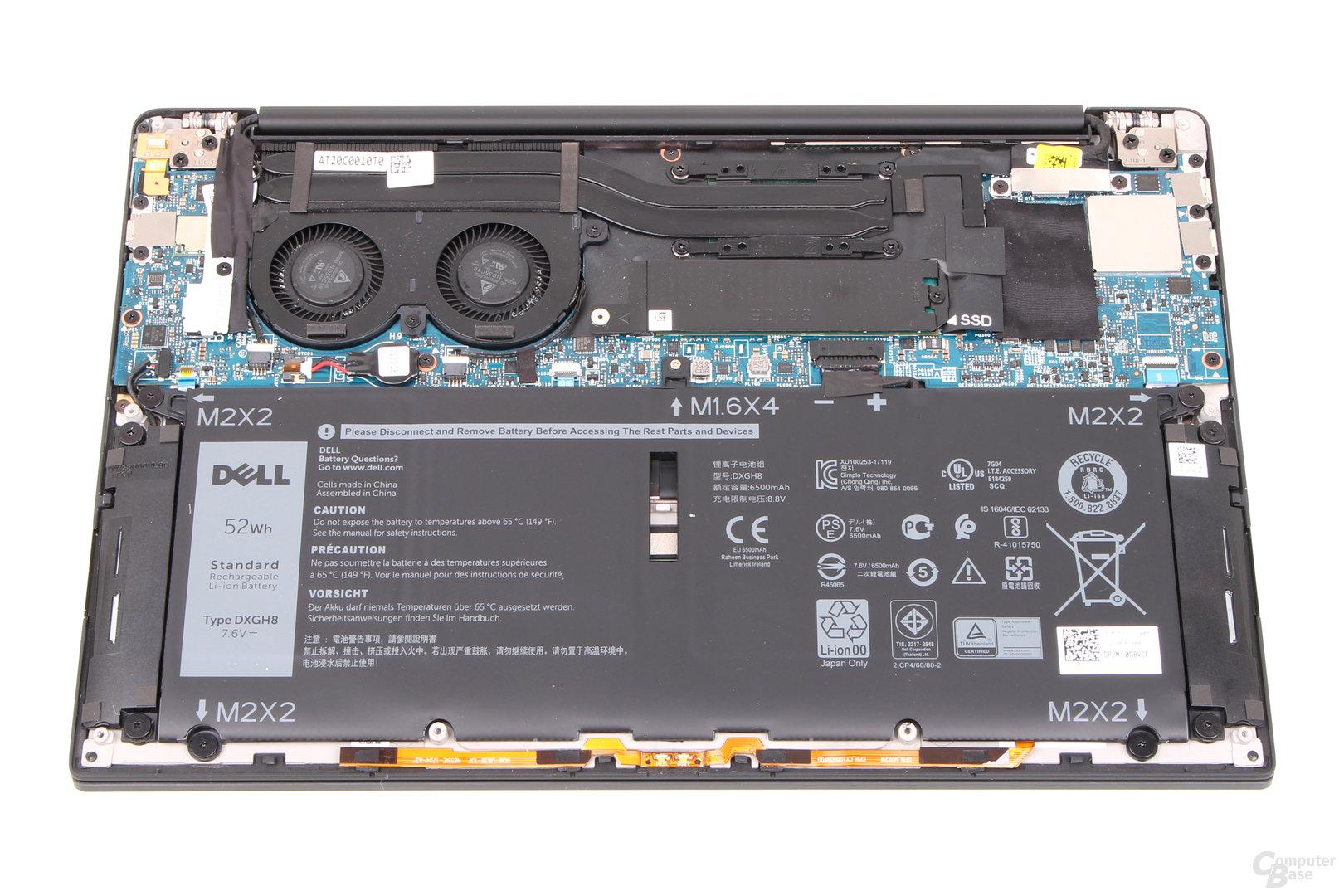 Dell XPS 13 (9370) im geöffneten Zustand