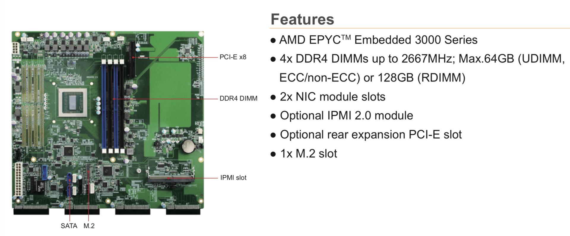AMD Epyc Embedded: High-End-BGA-SoC auf erstem Mainboard