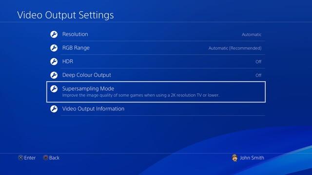 Supersampling mit der PS4 Pro und Firmware 5.50