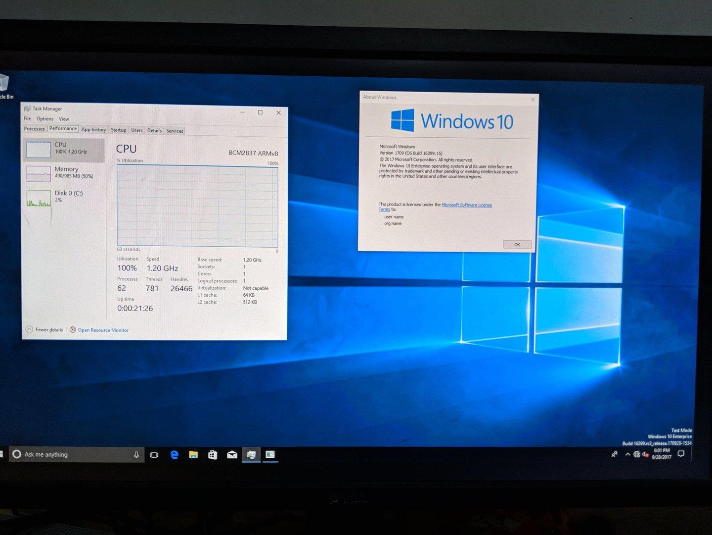 Windows 10 on ARM auf Raspberry Pi 3