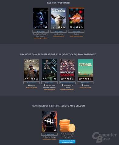 Das Humble Best Of 2017 Bundle deckt viele Genres ab